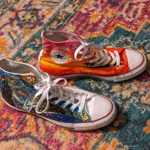Converse All Star hand painted shoes